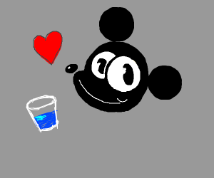 mickey mouse loves water