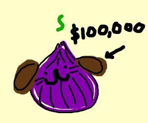 Purple onion dog for sale $100,000