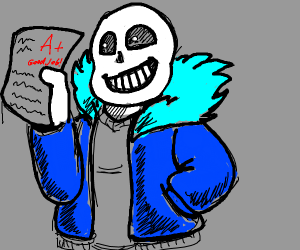 Sans got an A+ on his test