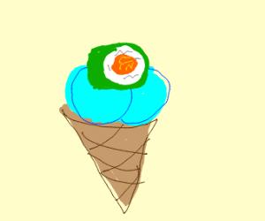 Ice cream sushi?
