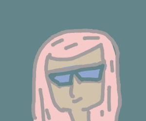 Pink haired person with shades