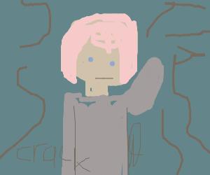 Pink haired man smashing your screen