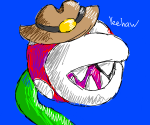 Piranha Plant Is Now A Cowboy