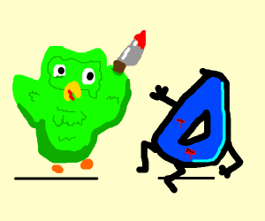 Duolingo owl stabs Drawception D to death