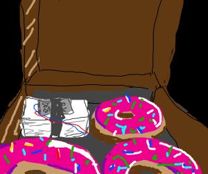 C4 in a doughnut box