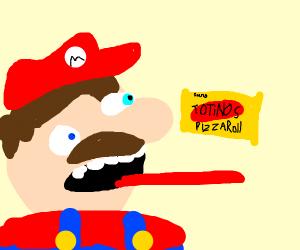 mario eats pizza rolls