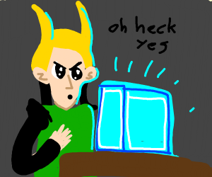 Loki wants blue cube