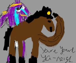 jojo horse says yare yare ya-neigh