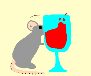 mouse spilling wine