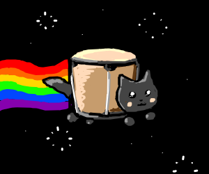 Nyan Bongo Cat Drawception