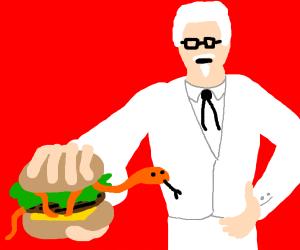 50 percent off KFC Snake Burger