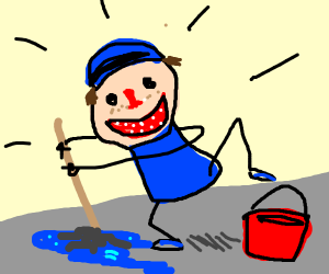 Overly happy Janitor