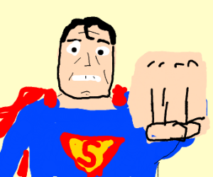 superman punches the camera