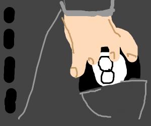 Pocketing the 8 ball