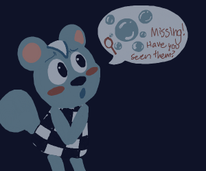 animal crossing villager has missing bubbles