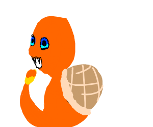 Squirtle fuses with Charmander