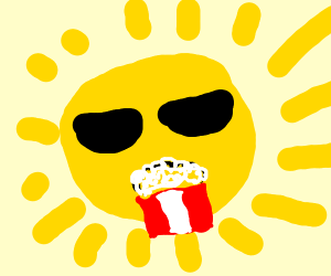 pop corn on a sun