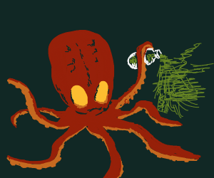 Octopus sprays poison at you