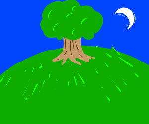 A field with a tree in it :)