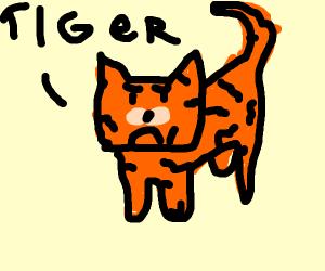 Tiger looks worried