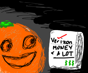 maniacal orange laughs at your bills.