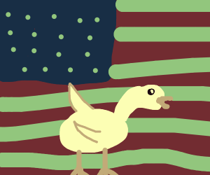 Patriotic American Goose
