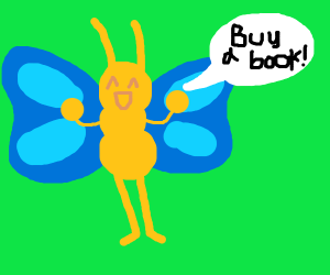 butterfly tells you to buy a book