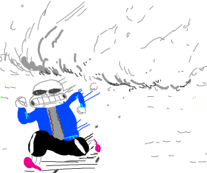Avalanche about to crush Sans
