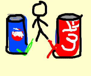 Man likes Pepsi over Coke