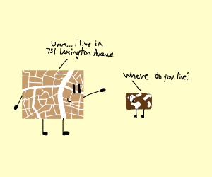 Map tells his son where he lives