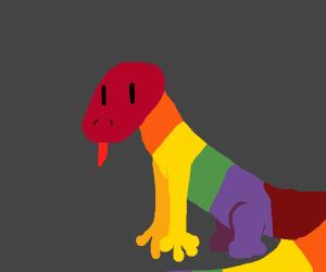 Rainbow lizard.