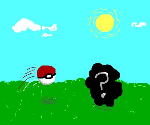 throwing pokeball at pokemon
