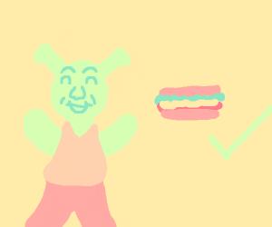 shrek likes sandwiches
