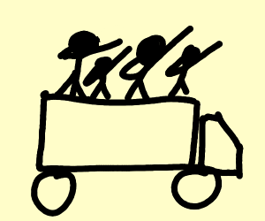 men on truck dabbing