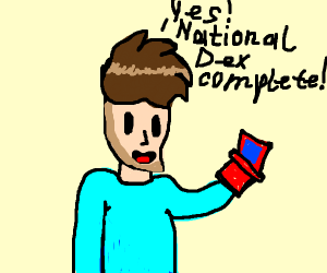 Completing the national pokedex