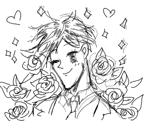 a beautiful anime man