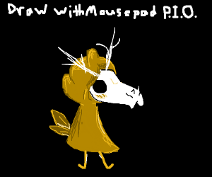 Draw with mouse pod Pass it on
