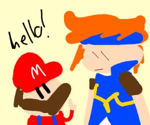 Mario meets Roy(Fire Emblem)