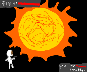 Final boss battle against the sun