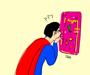 Superman is conflicted about modern art