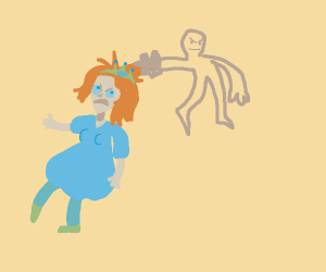 Princess being dragged by her hair