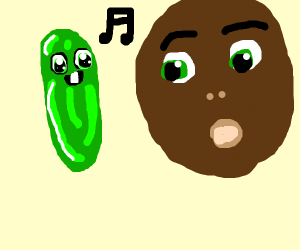 Guy with the pickle of veggietales
