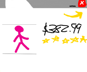 5 star pink stickfigure toy in amazon
