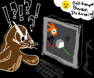 Seal enraged at how unintuitive Blender3D is
