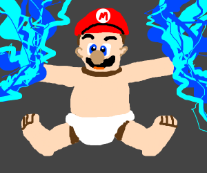 Baby Mario with Electric Powers