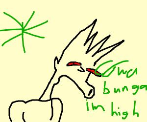 Bart Simpson smokes the Stuff