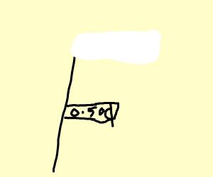 Cheap white flag