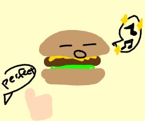 hamburger sings perfectly