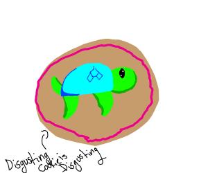 Kawaii turtle cookie