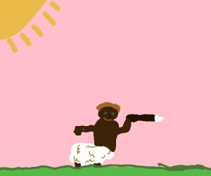 Sheep/black man hybrid